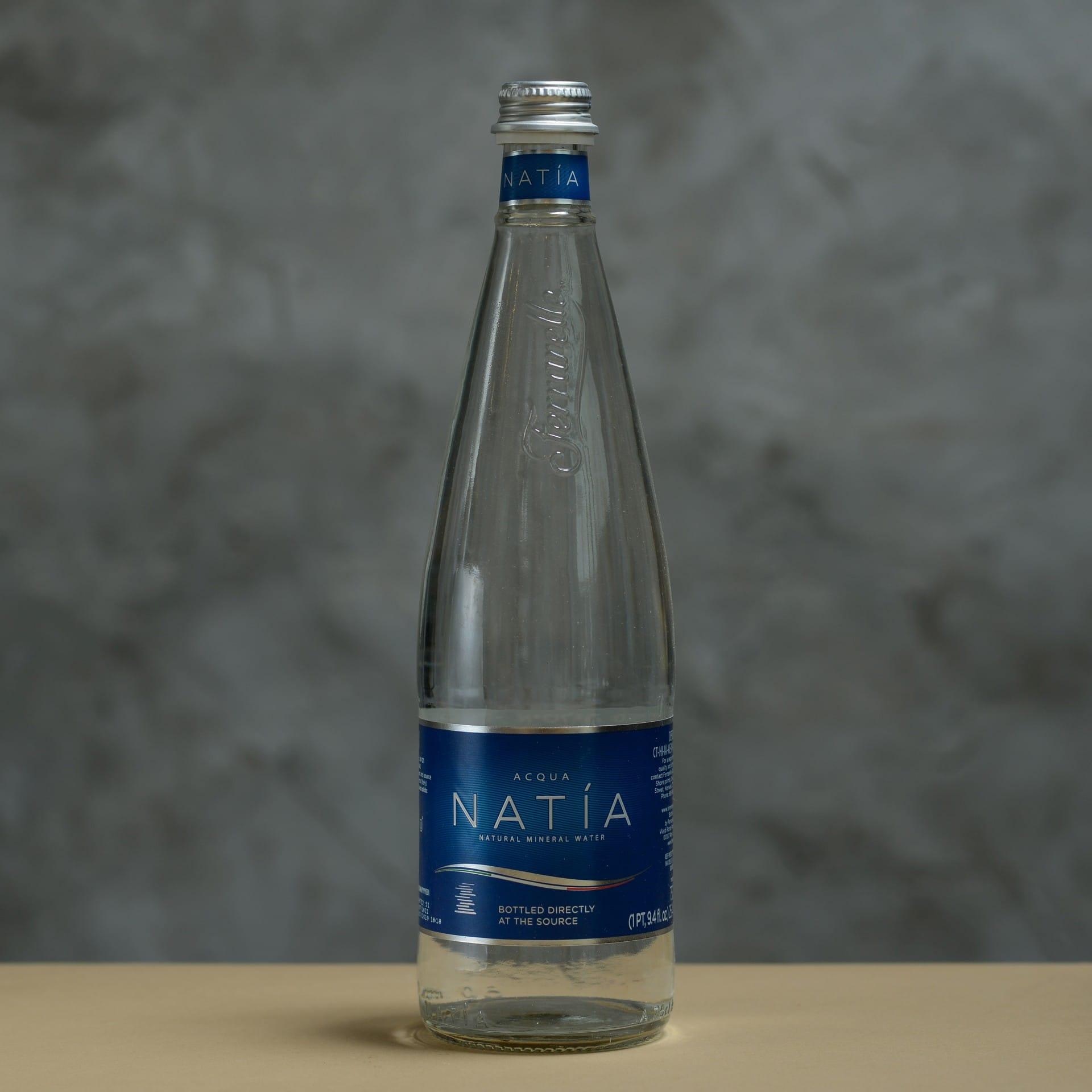 Glass Bottle Mineral Water