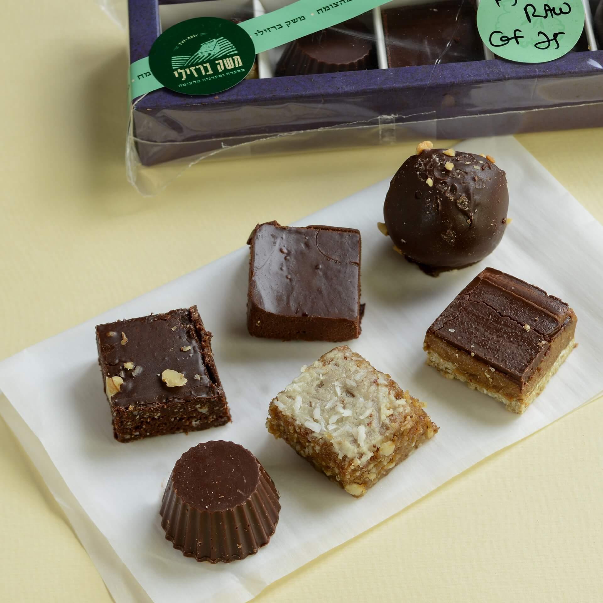 מארז חטיפי שוקולד RAW